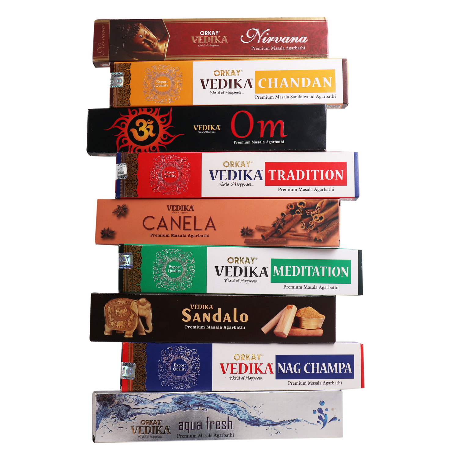 Vedika Incense 9-in-1 pack