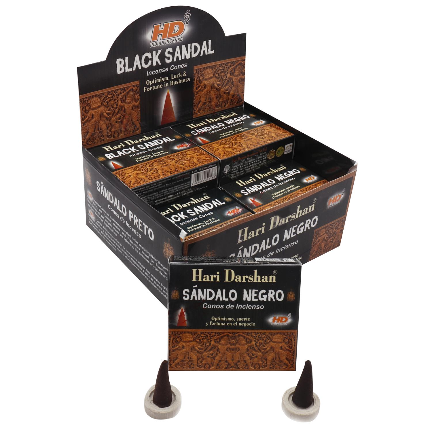HARI DARSHAN CONE BLACK SANDAL / SANDALO NEGRO